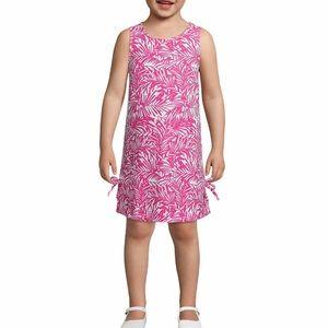Pappagallo Girls XS Tropical Pink Sleeveless Dress